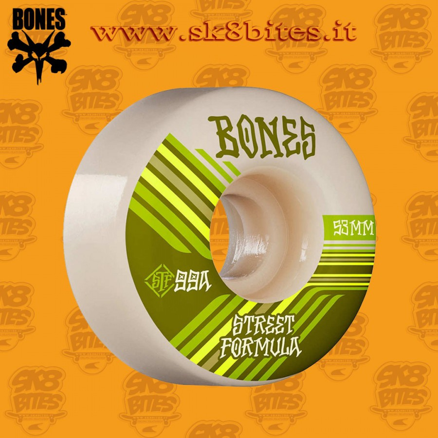 Bones STF Retros 53mm V4 Wide 99a Skateboard Street Pool Wheels