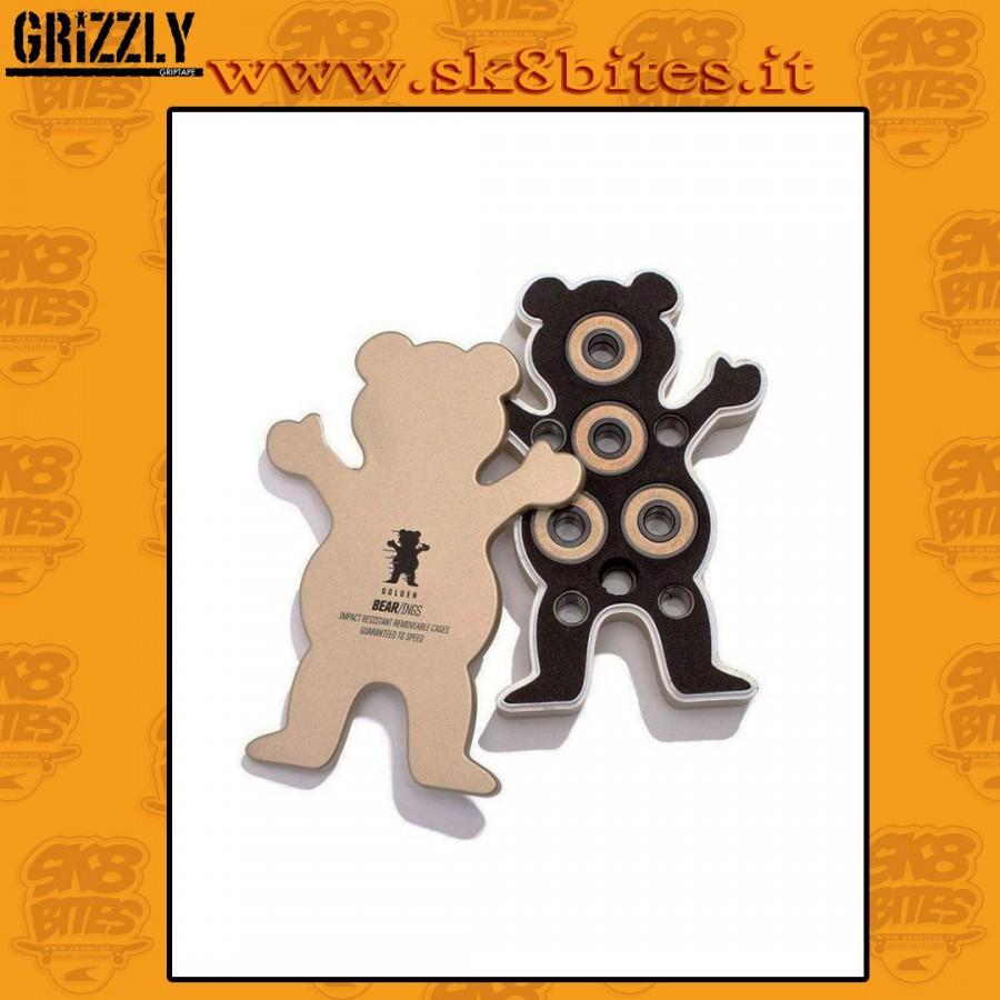Grizzly Black Bearings Abec 7 Skateboard Street Pool Bearings