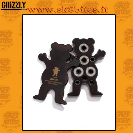 Grizzly Black Bearings Abec 9 Skateboard Street Pool Bearings