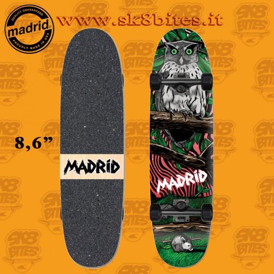 "Madrid Combi Owl 8,6"" x 33"" Complete Skateboars Street Deck"