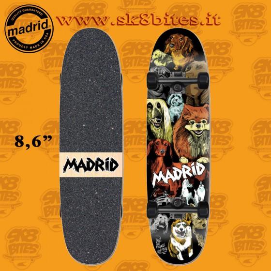 "Madrid Combi Dogs 8,6"" x 33"" Complete Skateboars Street Cruising Deck"