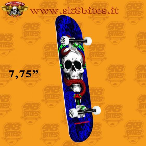 "Powell Peralta Skull & Snake One Off Royal Blue 7,75"" Complete Skateboars Street Deck"