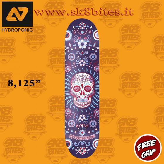 "Hydroponic Mexican Skull Deck Blue 8.125"" Skateboard Street Pool Deck"