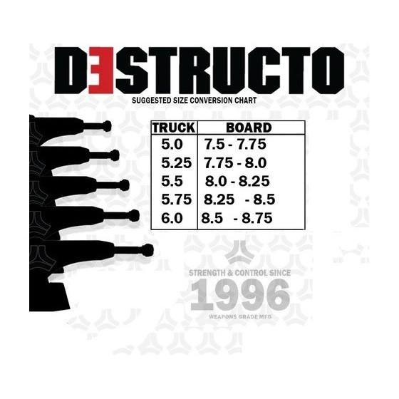 """Destructo D1 Raw Mid 5,5"""" Street Pool Skateboard Trucks"""