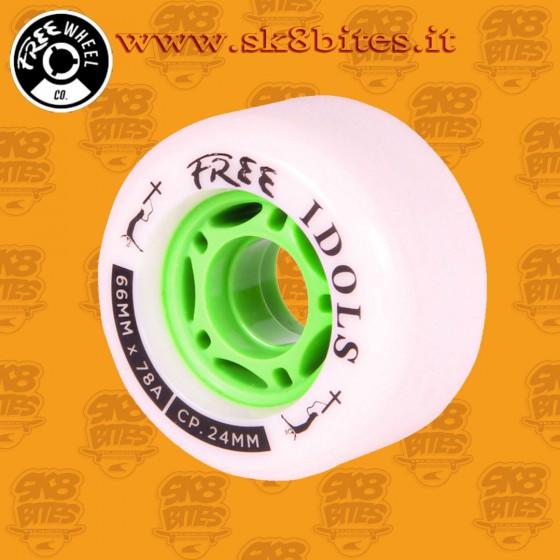 Free Wheels Idols Paltinum 66mm 78a Longboard Freeride Slide Wheels
