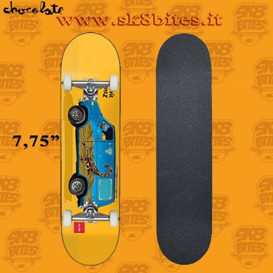 "Chocolate Perez Large Vanner 7.75"" Complete Skateboars Street Pool Deck"
