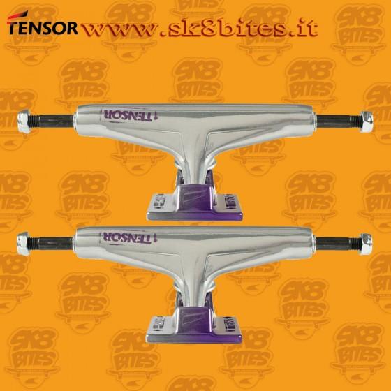 """Tensor Aluminum Regular Stencil Mirror Raw Purple Fade 5.5"""" Skateboard Street Pool Trucks"""