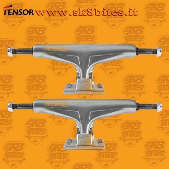 "Tensor Aluminum Regular Stencil Mirror Raw Gold Fade 5.5"" Skateboard Street Pool Trucks"