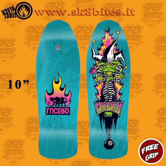 "Black Label Lucero ""1 2 X U"" Aqua Stain 10"" Skateboard Oldschool Street Deck"