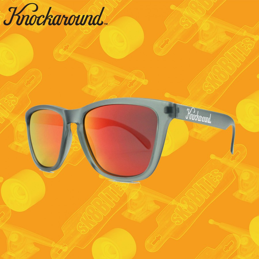 Knockaround Frosted Grey / POLARIZED Red Sunset Premium