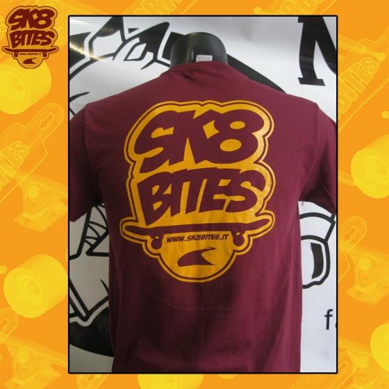 Sk8bites T-Shirt Logo Sk8bites Burgundy Skateboard Street