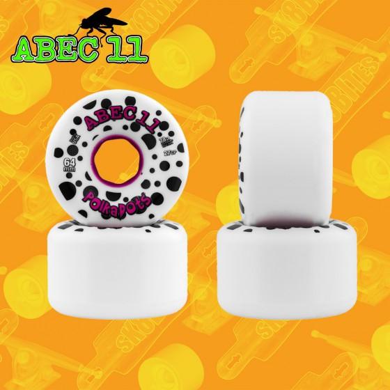 Abec 11 Polka Dots 64mm Ruote Longboard Freeride Slide