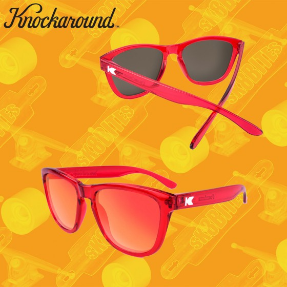 Knockaround Premium Monochrome Red Occhiali da sole unisex