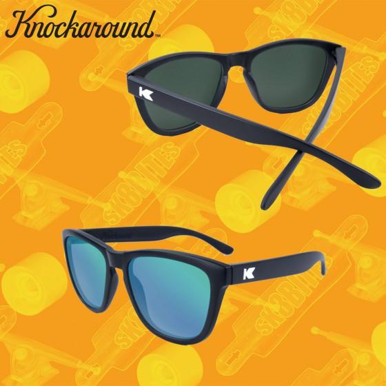 Knockaround Premium Black/Green Moonshine Occhiali da sole unisex