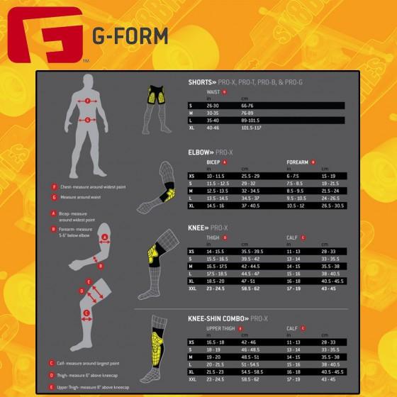 G-Form Pro-X Knee-Shin Combo Pads Ginocchiere Parastichi Skateboard Bike