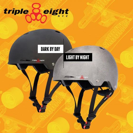 Triple Eight Gotham Darklight Casco Longboard Skateboard Bike