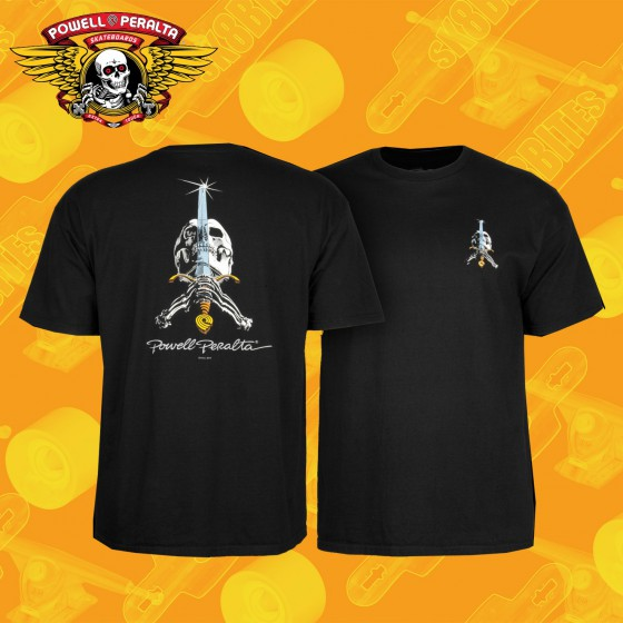 Powell Peralta Skull & Sword T-shirt Black