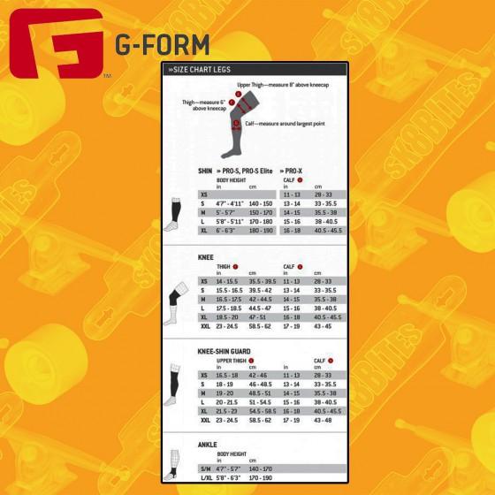 G-Form Pro Slide Knee Ginocchiera Longboard Skateboard