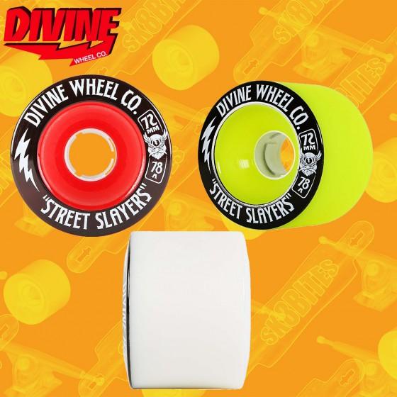 Divine Street Slayers 72mm Longboard Wheels