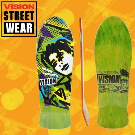 Vision OG MG Stain Veneer Green tavola Skateboard Oldschool