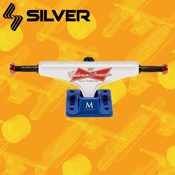 """Silver M-CLS Hollow Lager White 8.25"""" Attacchi Skateboard Street Trucks"""