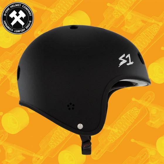 S-One Retro Lifer Helmet Black Matte Casco Longboard Skateboard Roller