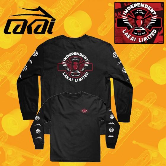 Lakai Indy LS Tee Maglietta Skateboard Street Long Sleeve Unisex
