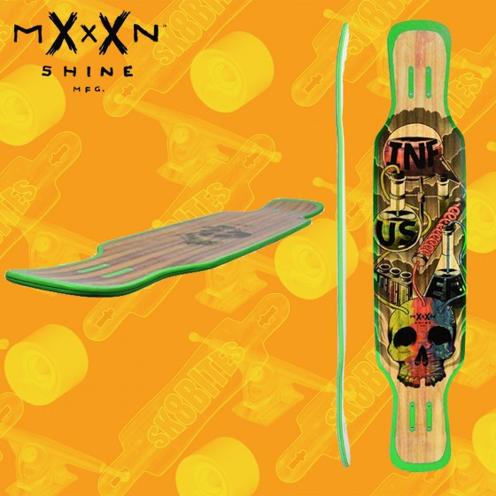 "Moonshine Infuser Natural 44"" Tavola Longboard Cruising"