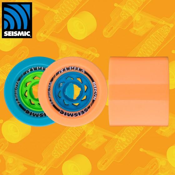 Seismic Alpha 75.5mm Longboard Wheels
