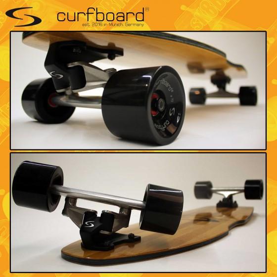 Curfboard Surfskate Tavola Completa Skateboard Carving Surfskate