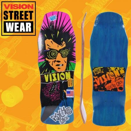 Vision Psycho Stick Modern Concave Stain Veneer Blue Tavola Skateboard Oldschool
