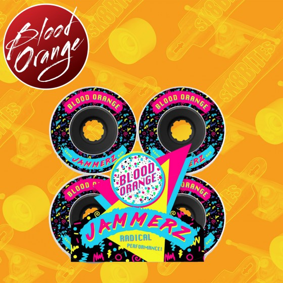 Blood Orange Jammerz 66mm  Ruote Longboard Slide Freeride