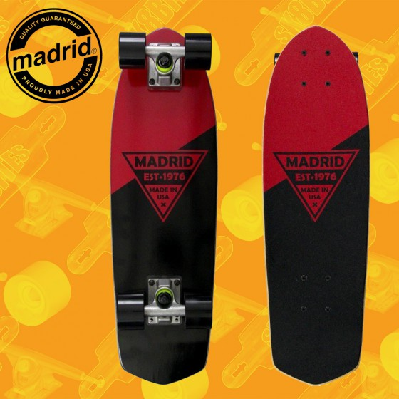 """Madrid Party 24"""" Red Metallic Complete Cruising Carving Deck"""