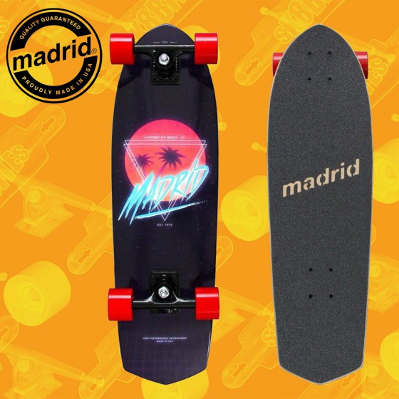 """Madrid Picket 28"""" Future Paradise Complete Cruising Carving Deck"""