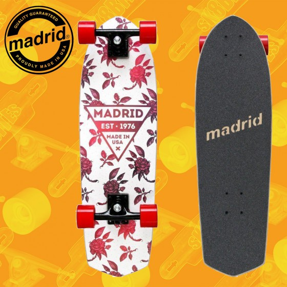 """Madrid Picket 28"""" Rosa Complete Cruising Carving Deck"""