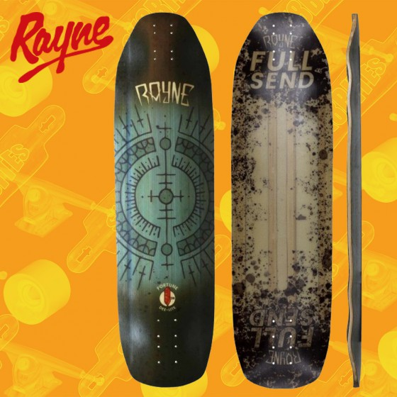 """Rayne Bromance Full Send Deelite 39"""" Tavola Longboard Freeride"""