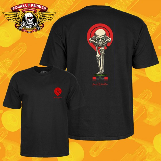 Powell Peralta Skull & Sword T-shirt Black Longboard Skateboard Apparel