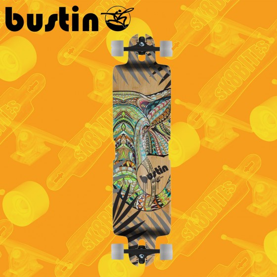 "Bustin Ibach Bukhal 39"" Longboard Freeride Cruising Deck"