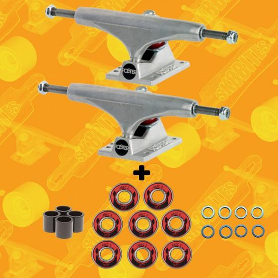 Polster Raw 149mm & Wicked Bearings pacchetto cuscinetti e attacchi street skateboard trucks