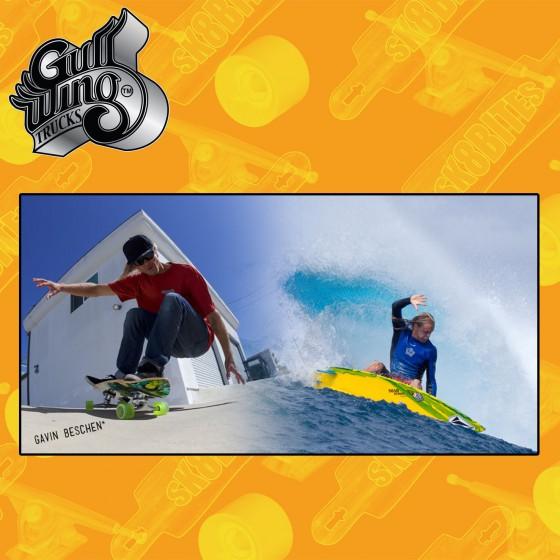 Gullwing Sidewinder II Attacchi Longboard Cruising Carving
