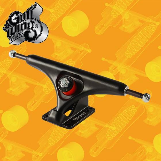 Gullwing Reverse Silver Raw 183mm Longboard Freeride Slide Truck