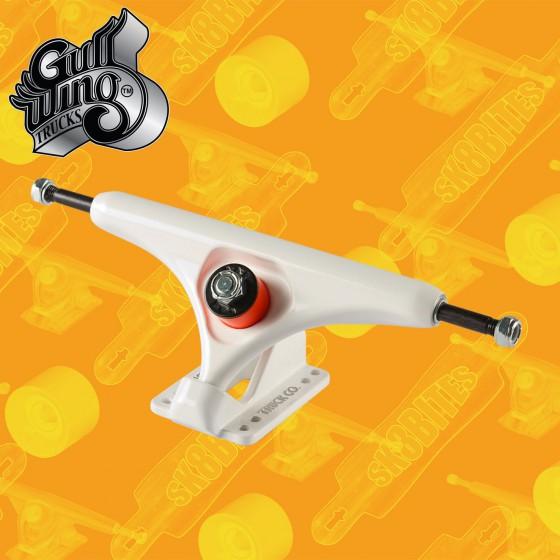 Gullwing Reverse White 183mm Longboard Freeride Slide Truck