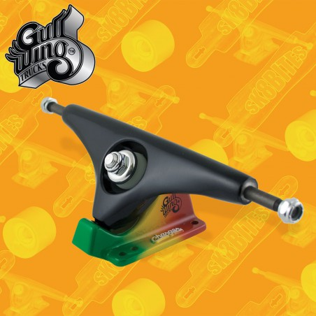 "Gullwing Charger Rasta 9"" Attacchi Longboard Freeride Slide  Trucks"
