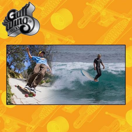 Gullwing Reverse White 183mm Attacchi Longboard Freeride Slide  Trucks