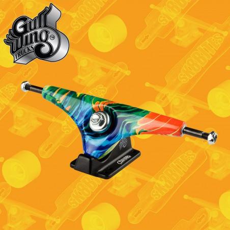 "Gullwing Charger Rasta 9"" Attacchi Longboard Freeride Slide  Trucks"