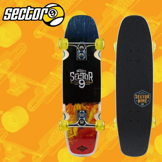 "Sector 9 Barra Soap Surfwinder 31"" Tavola Completa Longboard Freeride Cruising Carving"