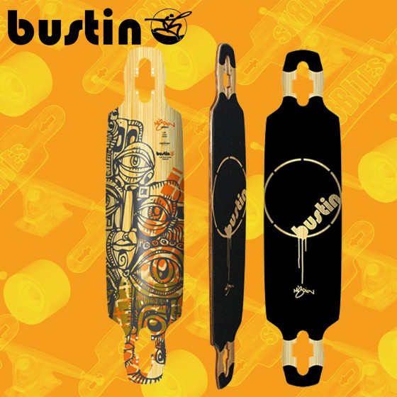 "Bustin Mission 36""Tavola Longboard Completa Cruising  Freride"