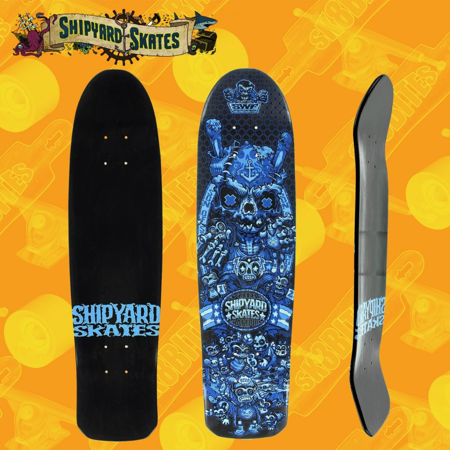 "Shipyard Night on the Comet 8,75"" Tavola Skateboard Street Oldschool"