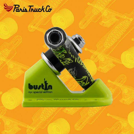 Paris V2 Bustin Collaboration 50° 180mm Attacchi Longboard Freeride Trucks