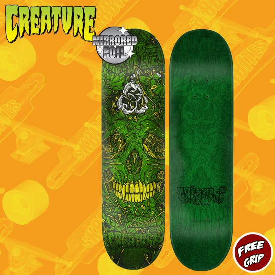 "Creature Patched SM Hard Rock Maple 8"" Skateboard Street Deck"